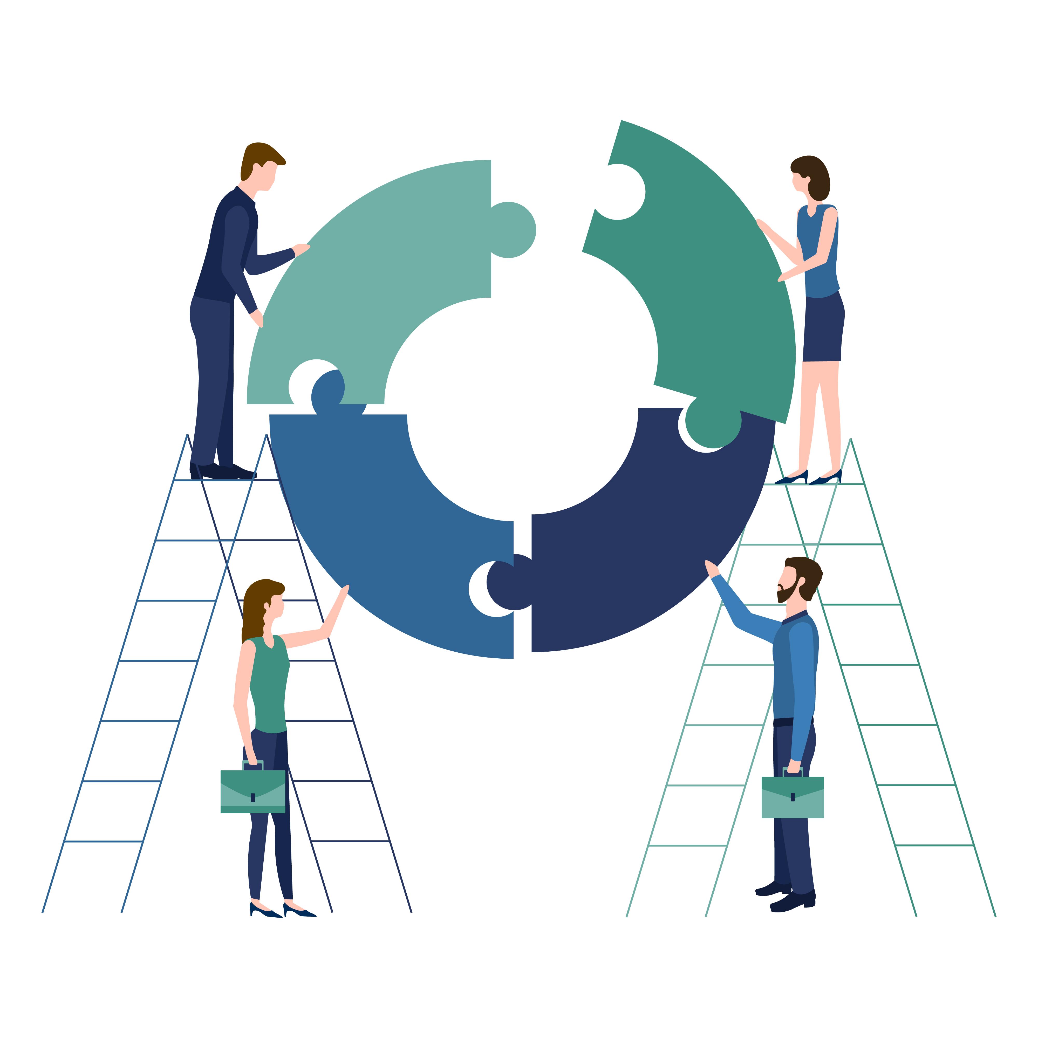 Vertrauensarbeitszeit - Teamwork concept